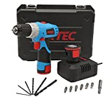 Fixtec Cordless Drill/Driver Lithium-Ion Cordless Screwdriver Max Torque 24N.m Variable Speed, 2 x 1300mh batteries, 16+1 Torque Setting with LED, 6pcs Drill Bits,6pcs Driver Bits