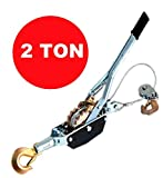 PROGEN HEAVYDUTY 2 TON CABLE PULLER PULLING HAND POWER WINCH TURFER TRAILER CAR