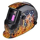 Welding Helmet - TOOGOO(R) Welding Helmet Solar Auto Darkening MIG TIG ARC Welder Mask Flame And Girl GS8D