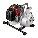 EBERTH 1' Petrol Water Pump (12,500 l/h, 2 HP Petrol Engine, 1 Inch Connection, 17.5 m Head, 7 m Lift, Recoil Starter)