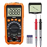 URCERI Multimeter Auto Ranging 6000 Counts Digital Voltmeter Ammeter Ohm Multi Tester Frequency Resistance Capacitance Diode Duty Cycle Temperature Measuring instrument with Backlight LCD Display