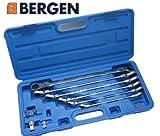 BERGEN Professional 10 piece Long Double Flexi Head Ratchet Ring Spanner Set