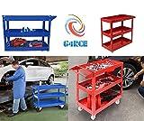 G4RCE Multi-Function Workshop Garage DIY Tool Storage Trolley Wheel Cart Tray 3 Tier/Shelf 3 levels UK BLUE