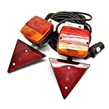 Magnetic Trailer / Car Recovery Lights Set 10m Cable / Lighting Board TR124
