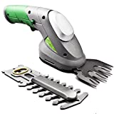 Gracious Gardens 2 IN 1 3.6V Lithium Ion Cordless Hedge Trimmer, Topiary Shears, Hand Held Trimmer, Cordless Shears Ideal for Shrub, Garden, Grass or Lawn Cultivation