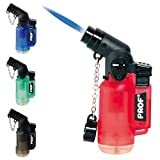 Refillable Windproof Jet Blue Flame Angled Blowtorch Turbo PROF Lighter & Tigerbox Matches