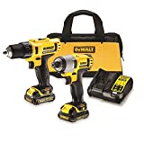 DeWalt DCK211C2 10.8 Volt Compact Drill Driver and Impact Driver Twin Pack in Kitbag