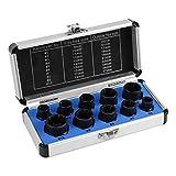 10 Pcs Nut Remover, Drive Socket 9-19mm Remover Set Damaged Bolt Nut Screw Remover Extractor Bolt Removal Set Locking Socket Tools Kit(longer)