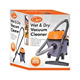 Quest 43710 Benross Wet and Dry Multi-Purpose Multi-Surface Vacuum Cleaner with HEPA Filter, 1200 W