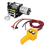Silverline 748850 DIY 12V Electric Vehicle Winch 2000lb Load Capacity