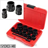 Voche 10 Piece Grip 'n' Twist Socket Set for the removal of Locking Wheel Nuts or Damaged Bolts - 9mm-19mm