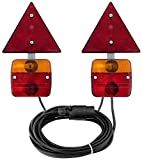 Adluminis 7 m Cable, 7 Pin Trailer Rear Light Fitting with Magnetic Base and Rear Reflector, Male, Applicable ECE APPROVED FOR ROAD TRAFFIC Regulations.