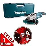 Makita GA9020KD 9inch/230mm Angle Grinder 240V With Case + Extra 1 Diamond Blade