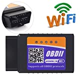 ELM327 Wifi OBDII Scanner,Gemwon OBD2 Wifi Adapter Car Diagnostic Tool Code Reader Check Engine for Android and IOS(Wifi-Black)
