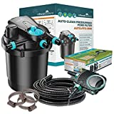 All Pond Solutions Auto Cleaning Pressurised Koi Pond Filter UV Steriliser All in One Kit 5000L/H