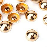 Weddecor 6mm Rose Gold Round Domed Punk Studs Rivets for Leathercraft Coat Hat Bag Jeans Decorative Clothes (Pack of 100)