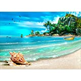 Greatmin DIY 5D Full Drill Diamond Painting Rhinestone Embroidery Cross Stitch Arts Craft for Home Decoration Beach 11.8 x 15.7 inches