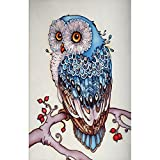 Mumustar DIY 5D Diamond Painting Kits Animals Full Drill Rhinestone Pasted Mosaic Embroidery Cross Stitching Kits Owl Fox Flowers Ladybug Pattern Art Craft Mural Home Wall Decor (Fox) (S)