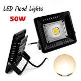 1819 50W LED Flood Plant light Grow Lights Outdoor Security Lights, Energy Saving Waterproof IP65, 220V 4000lm, Floodlight,Wall Washer Light (pack of 1) (Floodlight Warm White)
