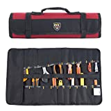 Babimax 22 Pockets Protable Toolkit Worker Tool Roll Tools Bag Organizer Plier Wrench Pouch Storage Multi Purpose Fold Up Portable Carry Handle