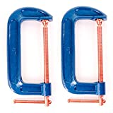 2x Large 150mm/6' Reinforced Cast Iron G Clamps