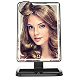 BeautyPRO2 LED Mirror [Upgraded Version] Illuminated Dimmable Vanity Mirrors, 80 Pcs Blubs, Touch Screen Lighted Makeup Table Mirror, Black, Bonus Pocket Make Up Mirror, with Light
