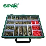 Spax Xpert Wood Screw & Raw Plug Case - 847 Assorted Screws and Organiser Box