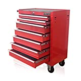 US PRO RED TOOLS AFFORDABLE STEEL CHEST TOOL BOX ROLLER CABINET 7 DRAWERS