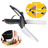 Food Chopper Scissors, Pictek Kitchen Scissors with Cutting Board (2-in-1), Steel Detachable Kitchen Shears, Heavy Duty Stainless Steel, Spring Loaded Shears For Poultry Fish Beef BBQ Home