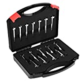 Baban 16pcs Forstner Drill Bits Set Woodworking Hole Saw Tungsten steel Titanium Coated, with Carrying/Storage Box