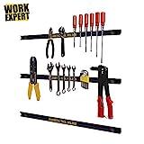 Work Expert Magnetic Garage Wall Tool Holder Strip Each Tool Holder Measures 24' in Length (Pack of 3)