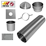 7m 6' Flexible Multifuel Flue Liner Pack/kit For logburner wood burner Multi Fuel Stove Chimney