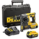 DeWalt DCH274P2 18v Cordless Brushless XR Rotary SDS Hammer Drill with 2 Li-ion Batteries 5ah & Quick Change Chuck