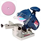 Silverline 220W Electric Bench Top Chainsaw Chain Sharpener with 2 x Sharpener Grinding Wheels