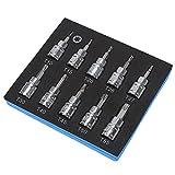 SANDS 3/8 Inch Drive S2 Steel T10 - T55 Torx Star Bit Torx Bit Socket Set Kit 10 Pcs T10 T15 T20 T25 T27 T30 T40 T45 T50 T55