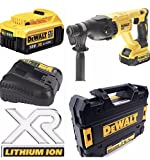 DEWALT 18v CORDLESS BRUSHLESS SDS DRILL XR 2.8KG COMPLETE KIT INCLUDING RAPID 30 MINUTE CHARGER + POWERFULL 4.0AH BATTERY WITH T STACK CASE