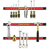 GYMAX 3PCS 46CM/18 Magnetic Tool Holder Set Tools Strip Bar Rack Garage WorkShop Essential
