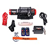 Genuine Rhino Wireless 12v Winch 4,500lb - Synthetic Dyneema Rope - Stronger Than Steel Cable