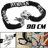JJOnlineStore - FLASH SALES - Black Heavy Duty 90cm Motorbike Motorcycle Mountain Bike Bicycle Chain Padlock Lock Safe Secure Security