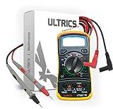 ULTRICS Digital LCD Multimeter Voltmeter Ammeter OHM AC DC Circuit Checker Tester Buzzer 1000V 10A Probes