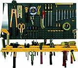 Garage Wall Tool Rack Storage Kit Tools Organizer Home Shelves Including 50 Hooks