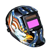 Solar Auto Darkening Welding Helmet Welders Mask Arc Tig Mig Grinding Eagle Black