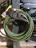 Cast Iron Squirrel Hose Pipe Holder - Two Colours Available (Midnight Black)