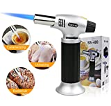 Kitchen Blow Torch, Refillable Butane Torch Adjustable Flame Lighter with Safety Lock, Brazing/Soldering/DIY/Creme/Brulee/BBQ Micro Food Cooking Torch, Chefs Culinary Kitchen Blow Torches (Butane Gas Not Included)