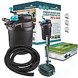 Pressurised 5000L Koi Fish Pond Filter 11w UV Steriliser / FPP 3500L/H Pond Pump - FULL KIT