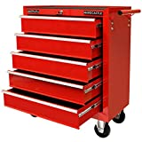 Hardcastle 5 Drawer Gloss Red Lockable Tool Chest Roller Cabinet