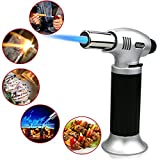 Emooqi Kitchen Torch, Flame Lighter, Refillable Blow Torch Lighter Outdoor Windproof Cooking Torch  for Creme Brulee, BBQ, Grill, Candles, Stove, Cooking, Baking