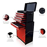 US PRO TOOLS RED BLACK BALL BEARING TOOL CHEST BOX ROLLCAB ROLLER CABINET