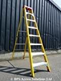 8 Tread Fibreglass Swingback Electricians Step Ladder / Ladders - FREE Next Working Day Delivery
