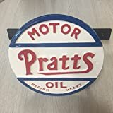 Black Country Metal Works Pratts Motor Oil Hand Cast Automative Sign Garden Hose Holder